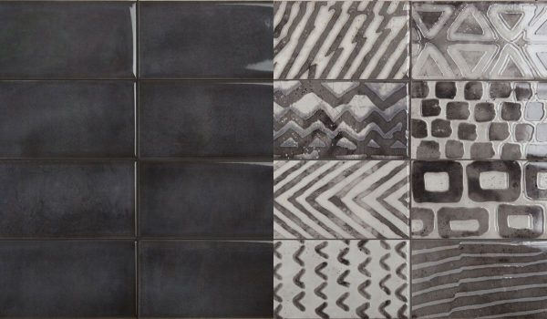 Be In Black decor 10x20 cm faianta Iris Ceramica