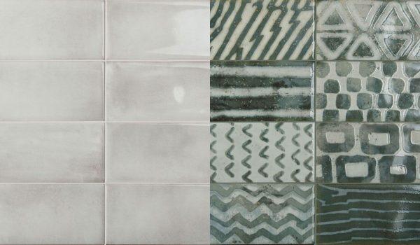 Be In White si decor Green-mix faianta 10x20 cm Iris Ceramica