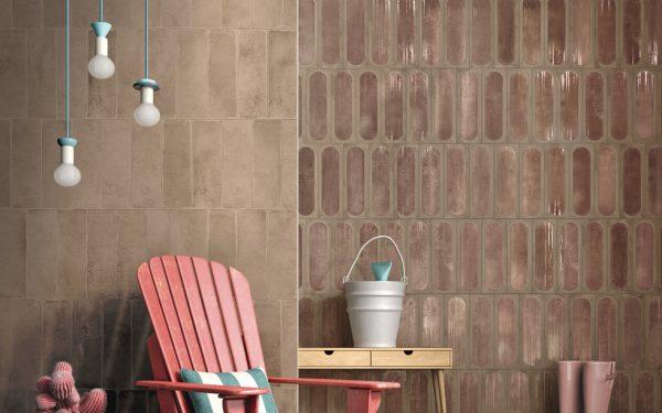 Blaze Pink decor-faianta 10x30 cm Iris Ceramica