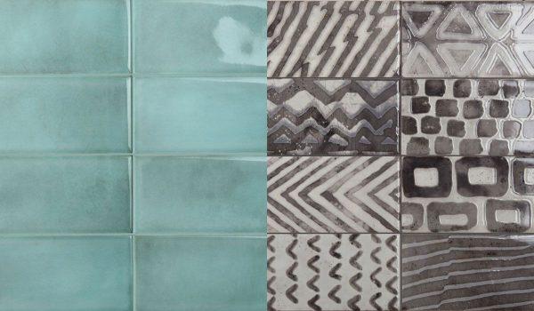 Be In Turquoise si decor Black-mix faianta 10x20 cm Iris Ceramica