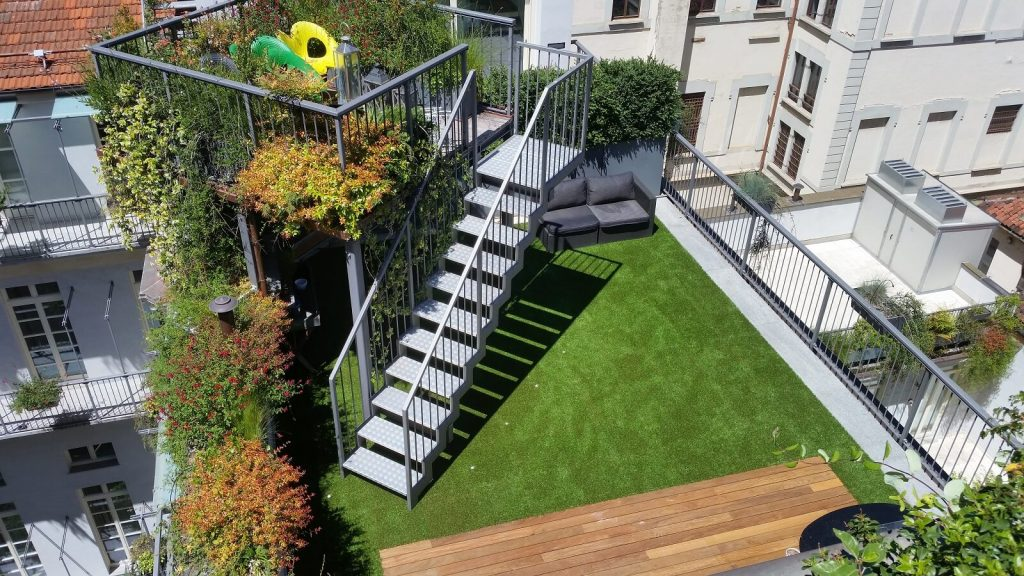 Gazon sintetic-Roofingreen leaf-pardoseala flotanta
